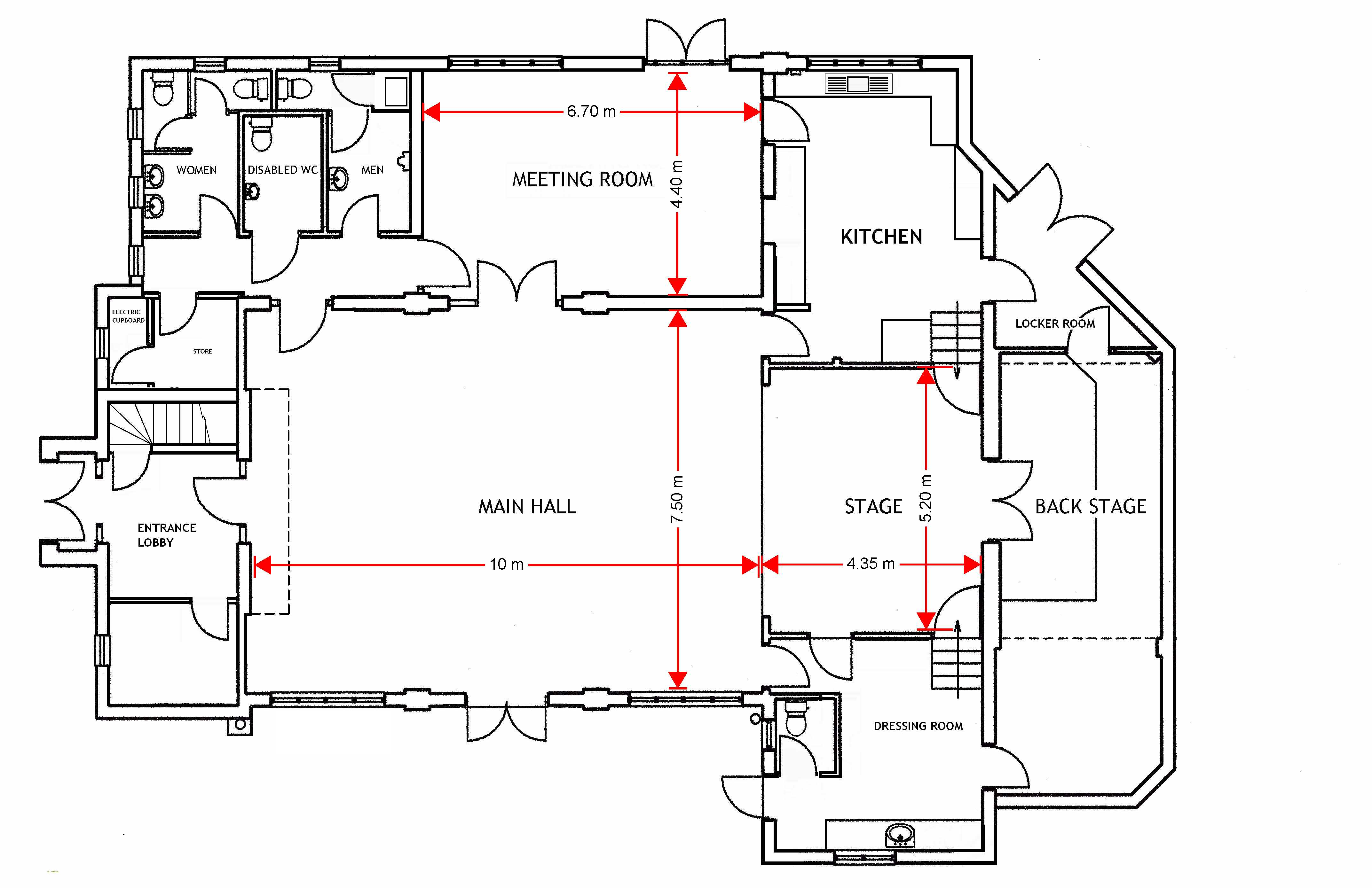 dimensioned ground floor plan ottershaw village hall dimensioned floor plans 1 a2 01 alisonkillion